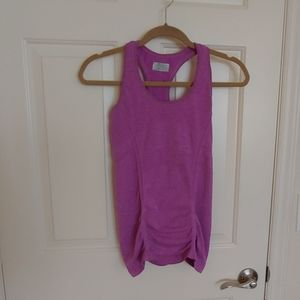 Athleta ruched racerback tank orchid xs